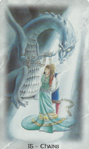 Tarot Card 15, The Ego/Chains, Celtic Dragon Tarot