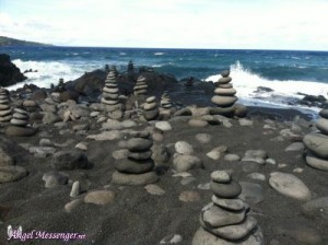Maui - The Importance of Solitary Reflection - hundred cairns with logo